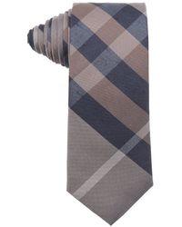 Burberry Camel And Navy Nova Check Silk Tie beige - Lyst