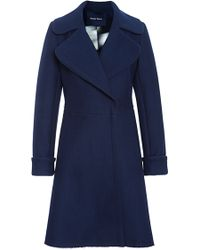Peter Som - Wool Twill Coating Peacoat with Belt - Lyst