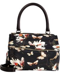 Givenchy Magnolia & Butterfly Small Pandora Messenger - Lyst