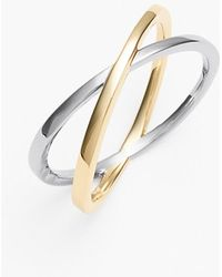 Bony Levy Crossover Open Ring - Lyst