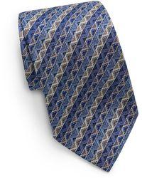 Missoni Zigzag Silk Tie - Lyst
