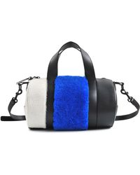 Opening Ceremony Small Syd Shearling Satchel - Lyst