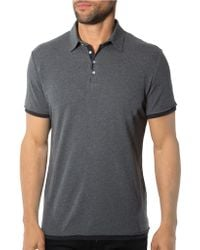 7 Diamonds Contrast Trimmed Polo Shirt - Lyst
