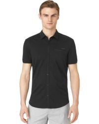Calvin Klein Coatedfront Placket Shirt - Lyst