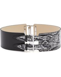 McQ by Alexander McQueen Back Buckle Belt - Black/White - Lyst
