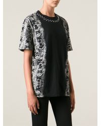 Diesel Black Gold Snakeskin Effect T-Shirt - Lyst