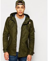Fly 53 - Parka Jacket With Hood - Lyst