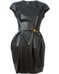 Lanvin Faux Leather Dress - Lyst