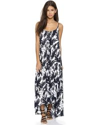 Mikoh Swimwear Biarritz Cover Up Dress - Polynesian Palm - Lyst