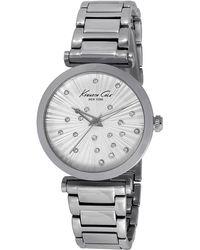 Kenneth Cole Ladies Stainless Steel Round Bracelet Watch - Lyst