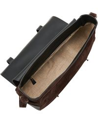 Tomas Maier - Suede And Leather Messenger Bag - Lyst