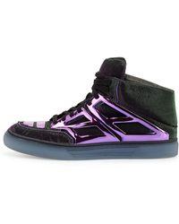 Alejandro Ingelmo Iridescent Platedetail Sneaker Turquoisepurple - Lyst