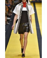 Carven Black Leather Shorts - Lyst