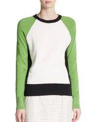 Reed Krakoff Colorblock Baseball Sweater - Lyst
