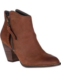 Steve Madden Whysper Ankle Boot Cognac Leather brown - Lyst