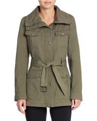 Guess Belted Anorak Jacket - Lyst