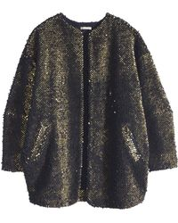 H&M Pile Jacket with Sequins - Lyst