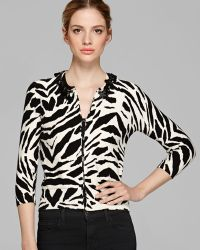 Tracy Reese - Cardigan Necklace Print - Lyst