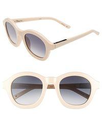 3.1 Phillip Lim 49Mm Round Sunglasses - Bone - Lyst