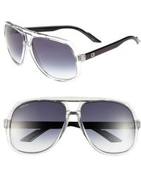 Gucci Women'S Vintage Inspired Stripe 63Mm Aviator Sunglasses - Crystal Blue - Lyst