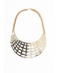 Missguided Whitley Lazer Cut Statement Collar Necklace Gold - Lyst