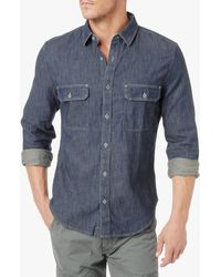 7 For All Mankind Contrast Pocket Shirt - Lyst