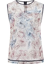 Suno Marker Floral Mesh Top - Lyst