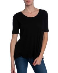 T By Alexander Wang Low Neck Tee - Lyst