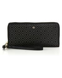 Tory Burch | Robinson Stitched Leather Wristlet Wallet | Lyst