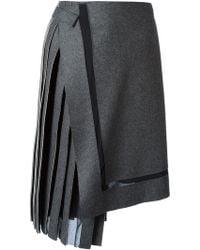 Iceberg Asymmetric Pleated Skirt - Lyst