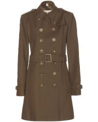 Burberry Brit Cotton Trench Coat - Lyst