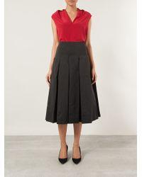 Saloni Cecilia Pleated Skirt - Lyst