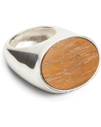 Ralph Lauren | Large Oval Wood Ring | Lyst