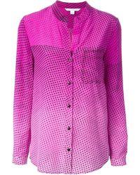 Diane Von Furstenberg Pink Printed Blouse - Lyst
