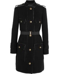Lanvin Belted Wool and Cotton Blend Coat - Lyst