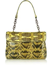 Bottega Veneta Ayerstrimmed Snake Shoulder Bag - Lyst