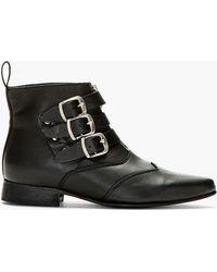 Underground Black Leather Original Blitz Ankle Boots - Lyst