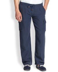 Vilebrequin Linen Drawstring Pants - Lyst