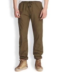 Diesel Cotton Drawstring Pants - Lyst