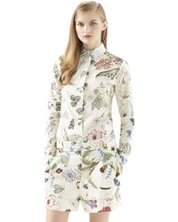 Gucci Flora Knight-Print Cotton Straight Shirt - Lyst