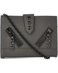 Kenzo Kalifornia Leather Shoulder Bag - Lyst