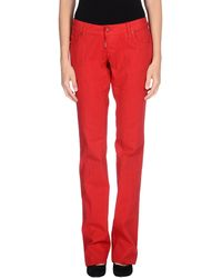 DSquared2 Red Denim Pants - Lyst