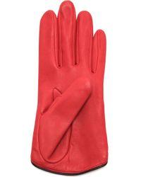 Rag & Bone Moto Gloves - Black red - Lyst