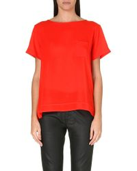 French Connection Polly Plains Pocket Top - Lyst