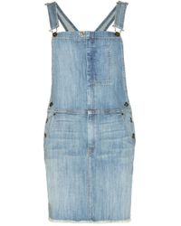 Current/Elliott The Garrison Denim Pinafore Dress - Lyst