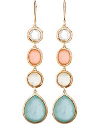 Ippolita - Gold Wonderland Four Stone Drop Earrings - Lyst