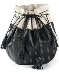 Yves Saint Laurent Vintage Contrast Bucket Bag - Lyst