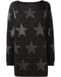 Diesel Black Gold Star Print Sweatshirt black - Lyst