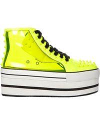 YRU - Elevation 2 Yellow Platform Sneaker - Lyst