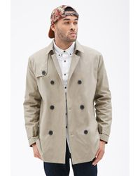 21men Double-Breasted Trench Coat - Lyst